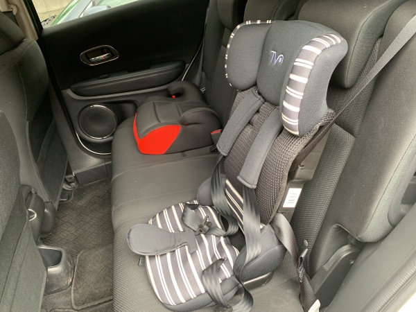オリックスカーシェアチャイルドシート装着
