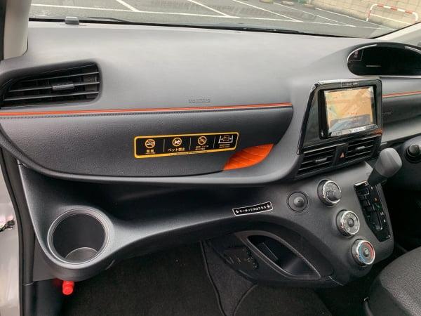 タイムズカーシェアシエンタ車内ダッシュボード